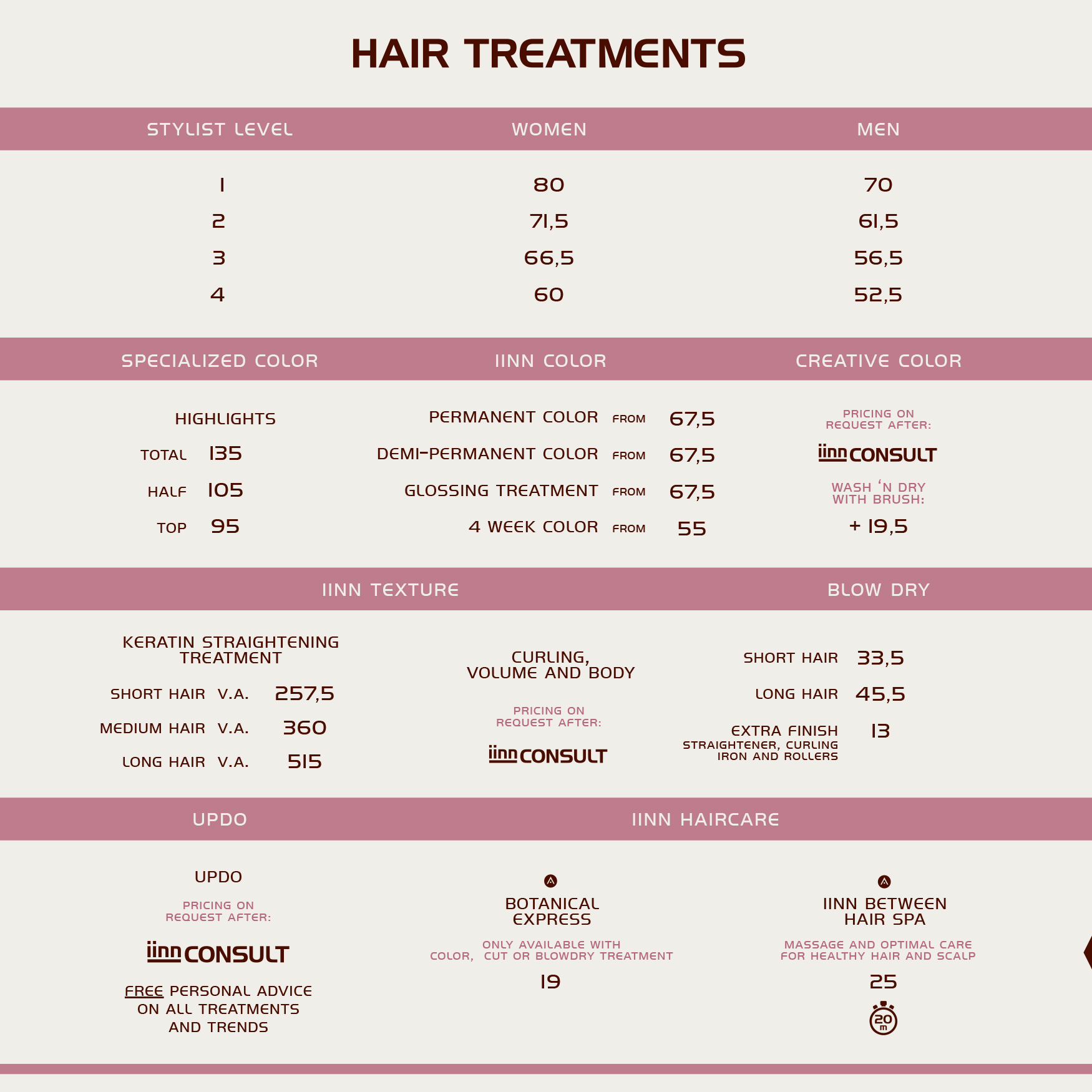 iinn - sustainable beauty - hair treatments