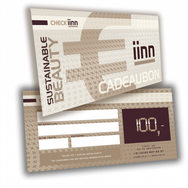 iinn — sustainable beauty cadeaucheque t.w.v. € 100.-