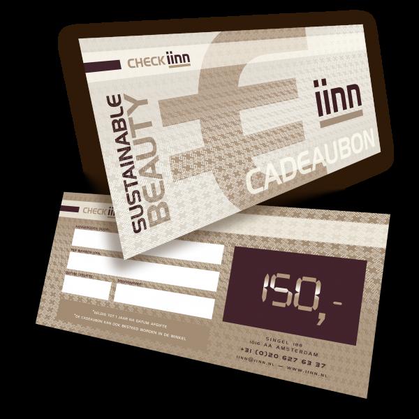 iinn — sustainable beauty cadeaucheque t.w.v. € 150.-