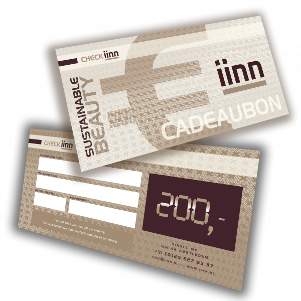 iinn — sustainable beauty cadeaucheque t.w.v. € 200.-