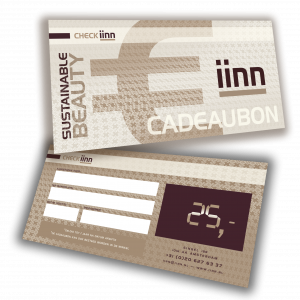 iinn — sustainable beauty cadeaucheque t.w.v. € 25.-