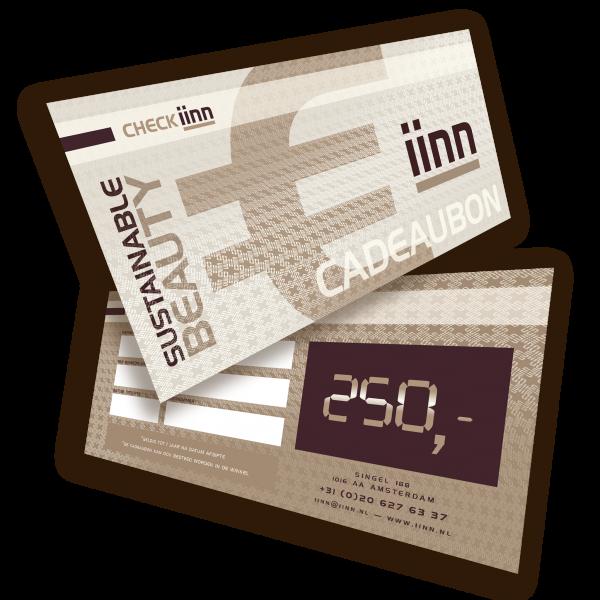 iinn — sustainable beauty cadeaucheque t.w.v. € 250.-
