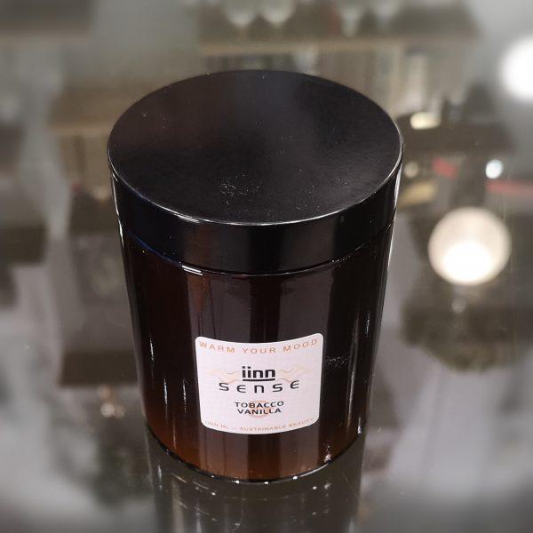 iinn sense — Tobacco Vanilla — vegan geurkaarsen — 100% natuurlijke ingrediënten